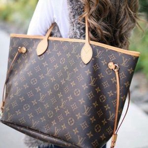 Auth Louis Vuitton Neverfull Gm Tote Bag #N9197V92